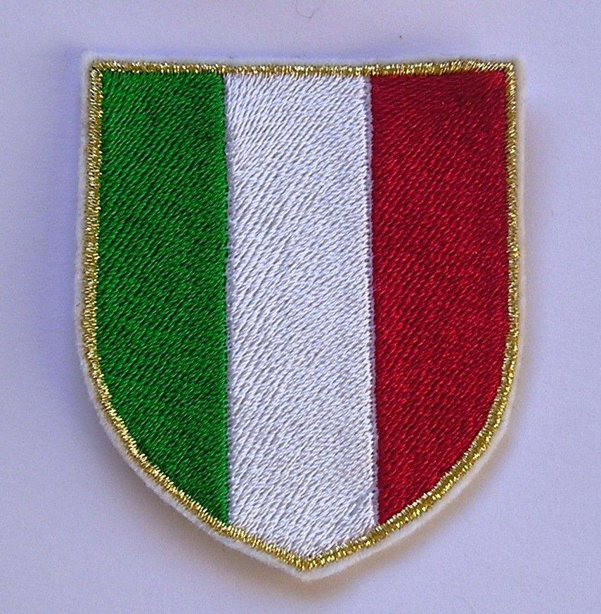 toppa scudetto ITALIA patch ricamata termoadesiva cm 5,5 per 6,3