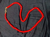 collana rosso corallo