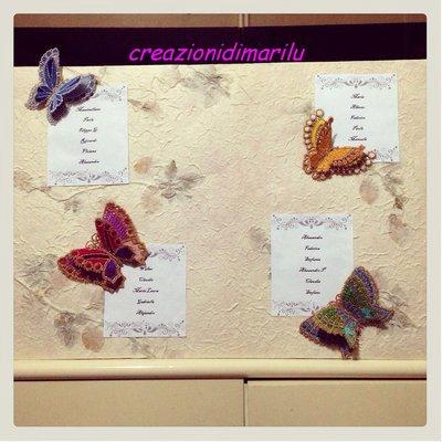 Farfalle tridimensionali 3D per Tableau matrimonio e bomboniere