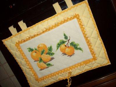Copriforno con arance