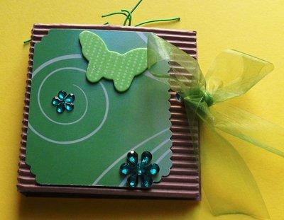Idea Regalo 4! Mini Album Verde Post-it PortaAppunti - Green Notes in Scrap^^