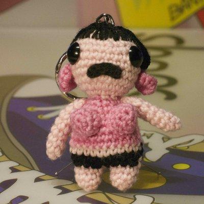 Portachiavi amigurumi Freddie Mercury