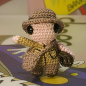 Portachiavi Amigurumi Indiana Jones