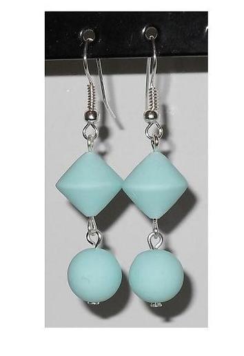 Orecchini bicono+perla in fimo - mod. c04