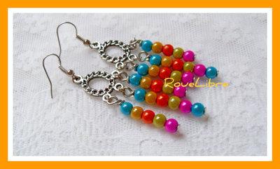 """Boucles d'Oreilles """"  Perles Magiques """""""