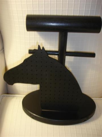 PORTAGIOIELLI - espositore - no fimo- testa di cavallo  - sagoma intercambiabile!!