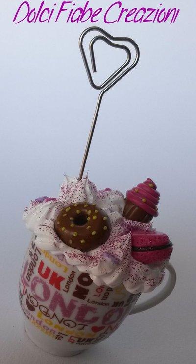 PROMO SCONTO 10% Tazza portafoto panna e dolcetti - Londra