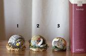Dipinto su pietra - UCCELLINI - Opera d'arte - Idea regalo - oggetto da collezione