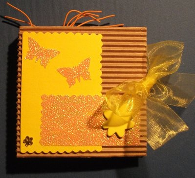 Idea Regalo 5! Mini Album Giallo Post-it PortaAppunti - Yellow Notes in Scrap^^