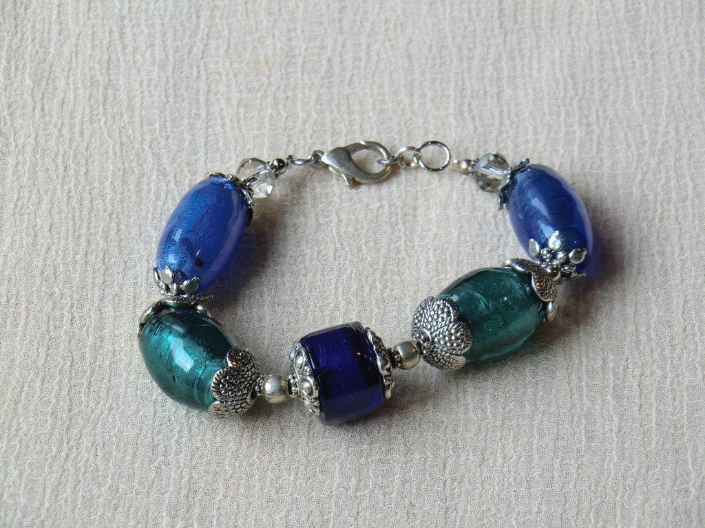 bracciale perle di vetro