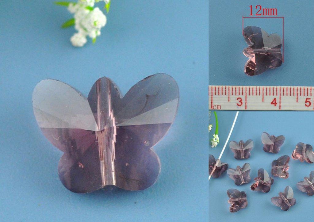 perlina Farfalla Viola