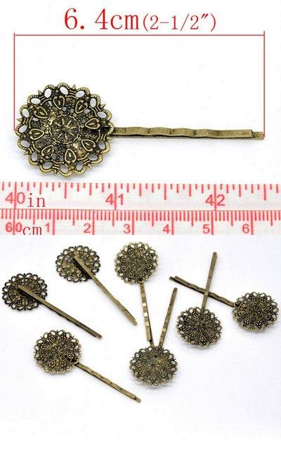 Forcina Fermacapelli in Filigrana a forma di Fiore