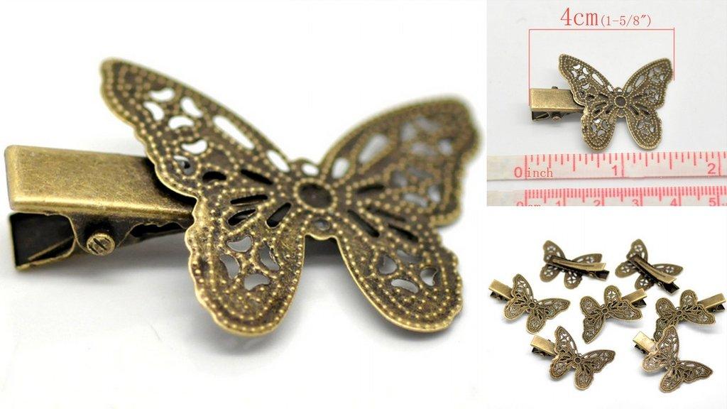 Molletta per Capelli  Farfalla Traforata
