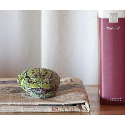 Dipinto su pietra - RANA - Opera d'arte - Idea regalo - oggetto da collezione