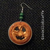 orecchini capsule nespresso Zucca di Halloween