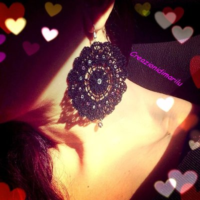 orecchini coordinati con collana