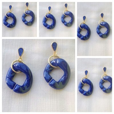 orecchini resina
