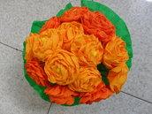 dalie in carta crespa  color arancio