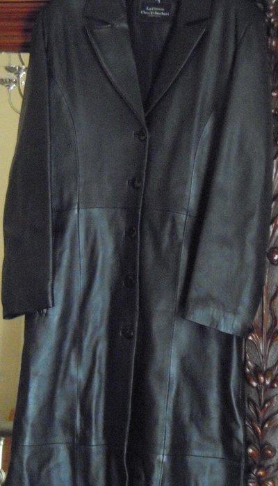 Cappotto lungo pelle donna