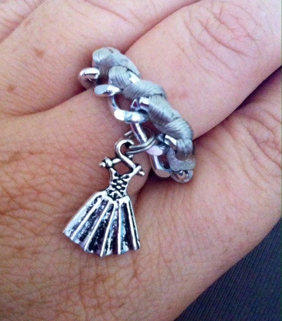 anello in corda e catena
