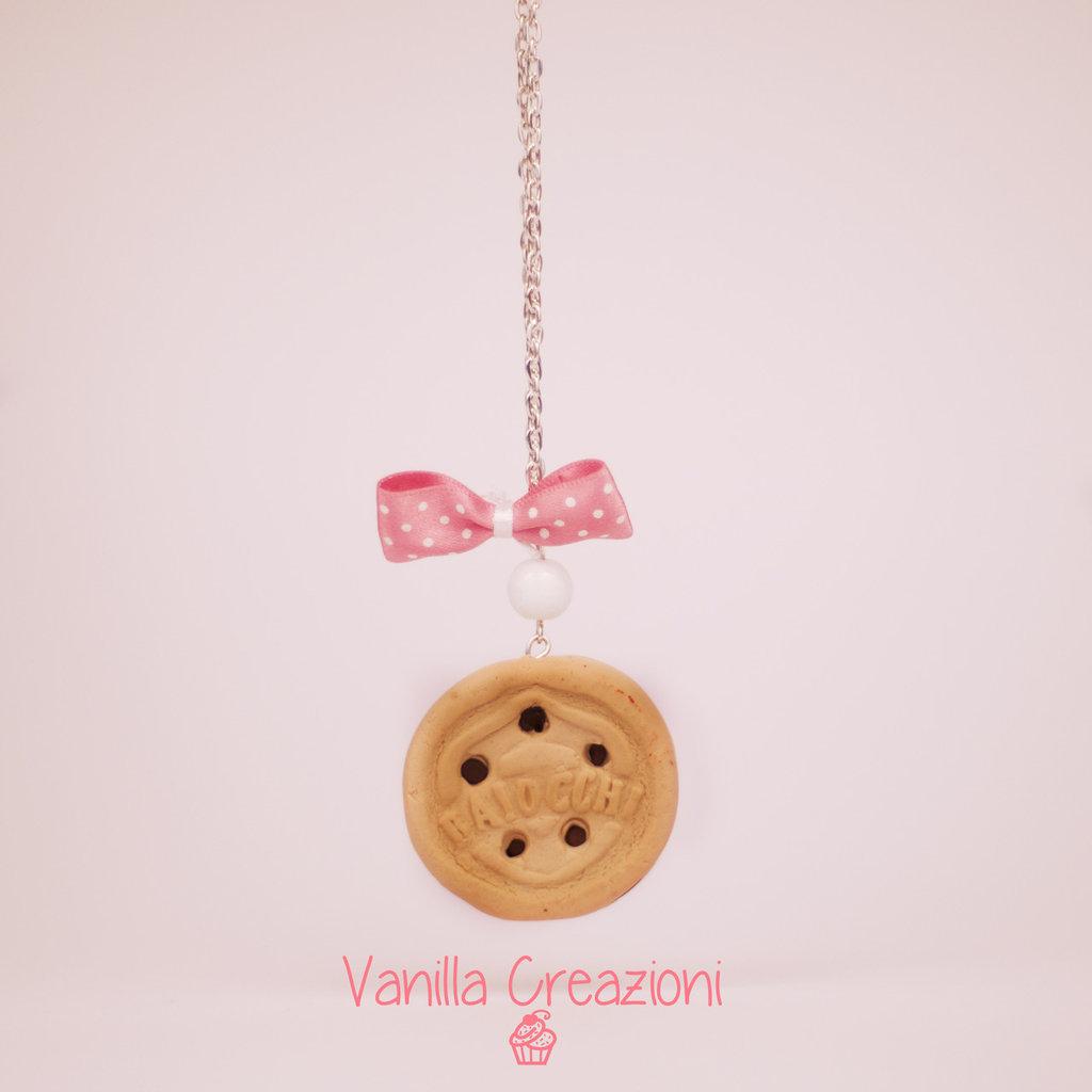 """Collana in Fimo con biscotto """"Baiocchi"""""""
