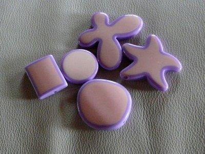 Perle bicolor, rosa e lilla