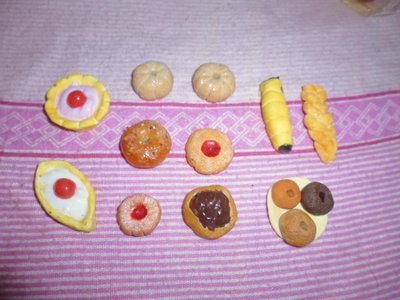 miniature biscotti in fimo