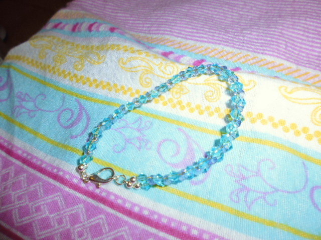 bracciale cristalli azzurri