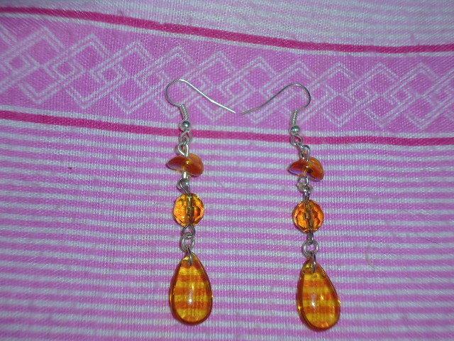 orecchini color ambra