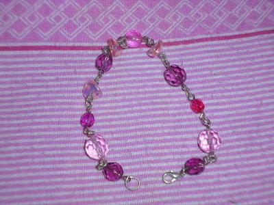 bracciale pietre rosa
