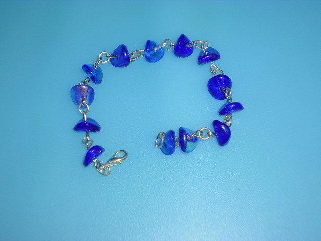 bracciale pietre azzurre