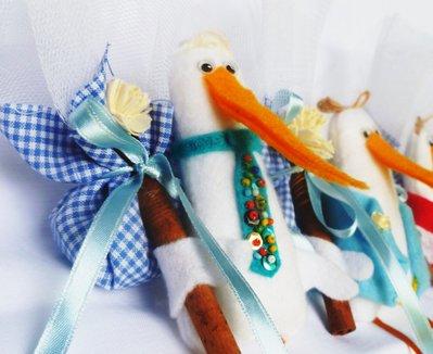 Bomboniera battesimo-nascita 'Dòdo': la cicogna in festa di Edo!