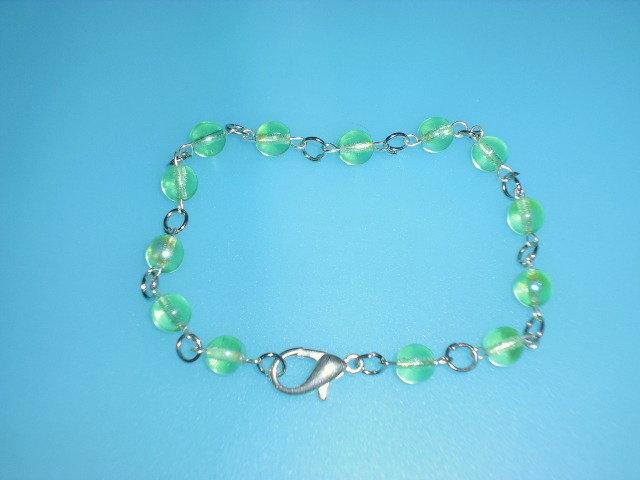 bracciale pietre vetro color verde chiaro
