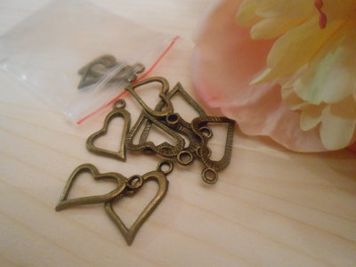 Charm cuore bronzo