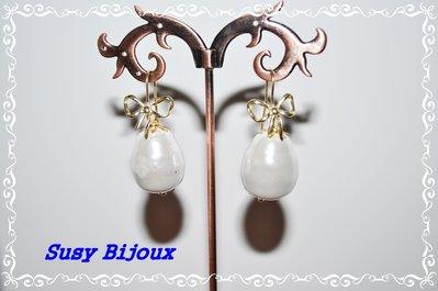 Orecchini in argento 925 e perle barocche