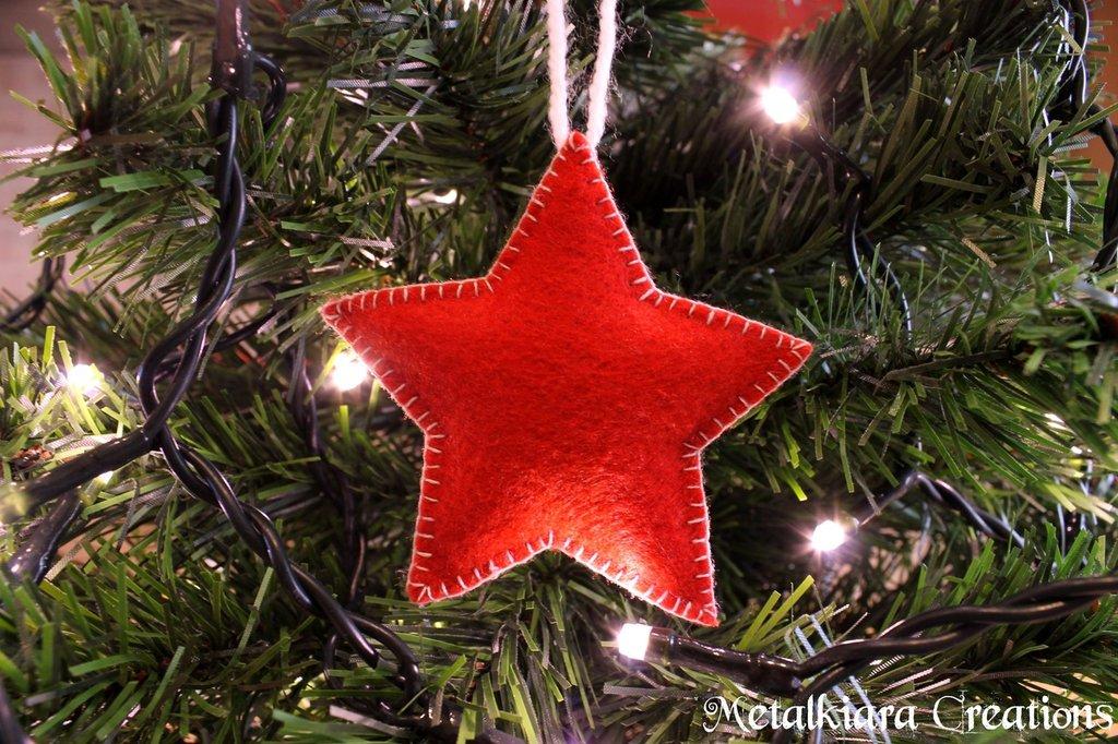Decorazioni albero Natale in pannolenci/feltro - soggetti vari