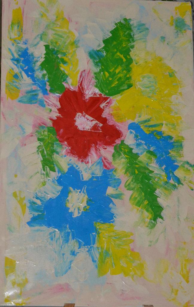composizione floreale astratta