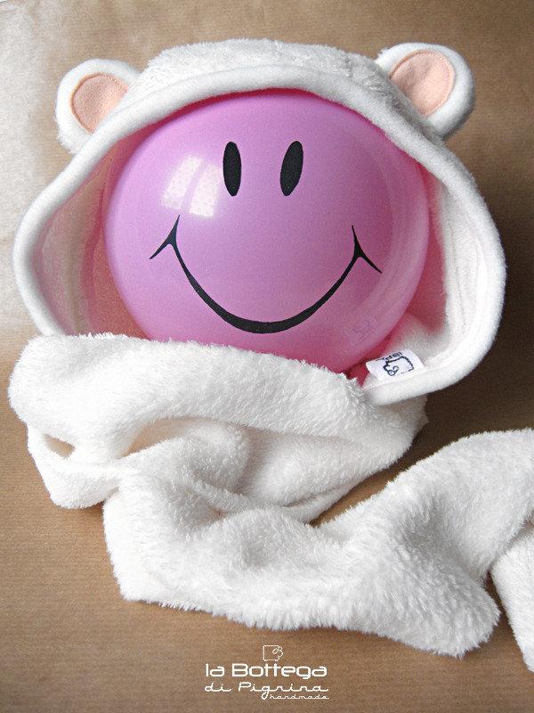 Cappuccio/Sciarpa per Bebè - Orso