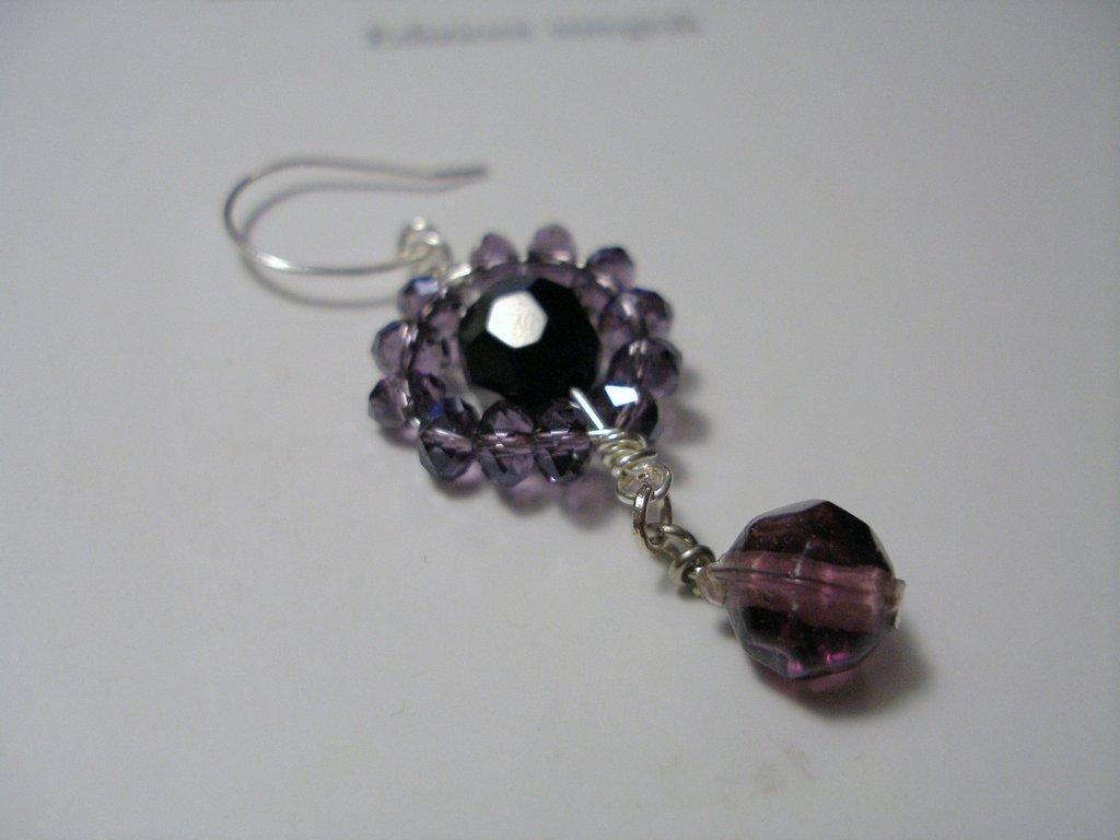 """Orecchini """"Purple&black"""""""