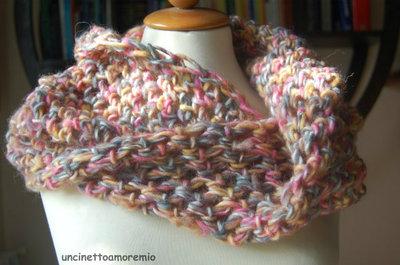 Coprispalle fantasia a crochet - I colori dell'autunno
