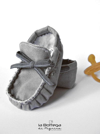 Mocassini invernali per Neonato - Grigi