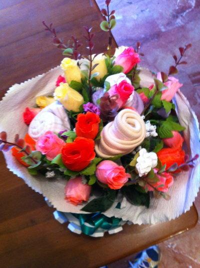 baby bouquet per nascite bimbo o bimba