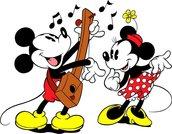 "Schema punto croce Disney ""Topolino e Minnie Vintage"""