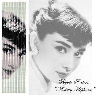 "Schema peyote per bracciale ""Audrey Hepburn"""