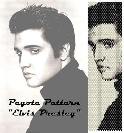 """Schema peyote per bracciale """"Elvis Presley"""""""