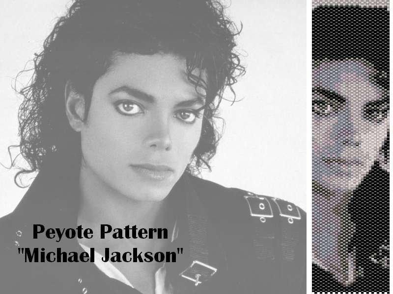"Schema peyote per bracciale ""Michael Jackson"""