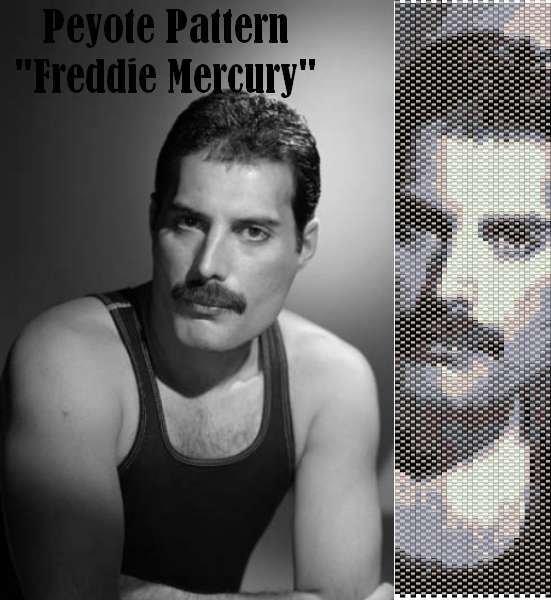 "Schema peyote per bracciale ""Freddie Mercury"""