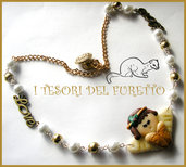 "Collana ""Angioletto Love Bronzo"" Fimo cernit kawaii"