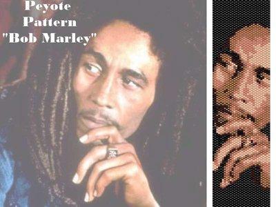 "Schema peyote per bracciale ""Bob Marley"""