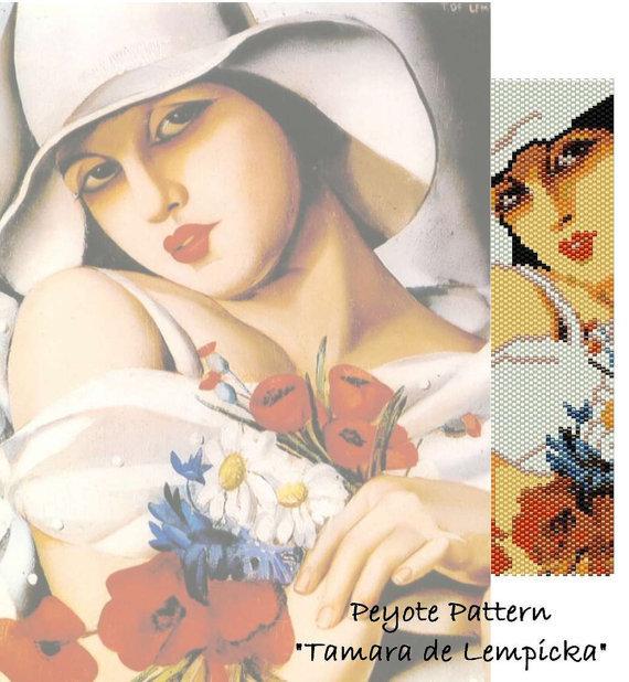 "Schema peyote per bracciale Tamara de Lempicka ""Sweet summer"""